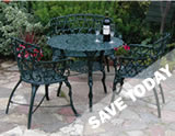 Massive savings on Cast iron cast iron garden furniture patio sets.