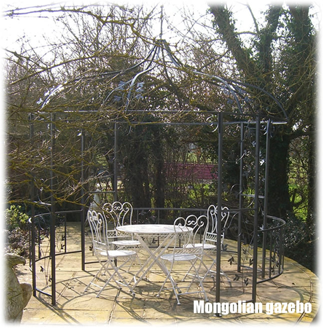 mongolian style metal garden party gazebo. Black Bedroom Furniture Sets. Home Design Ideas